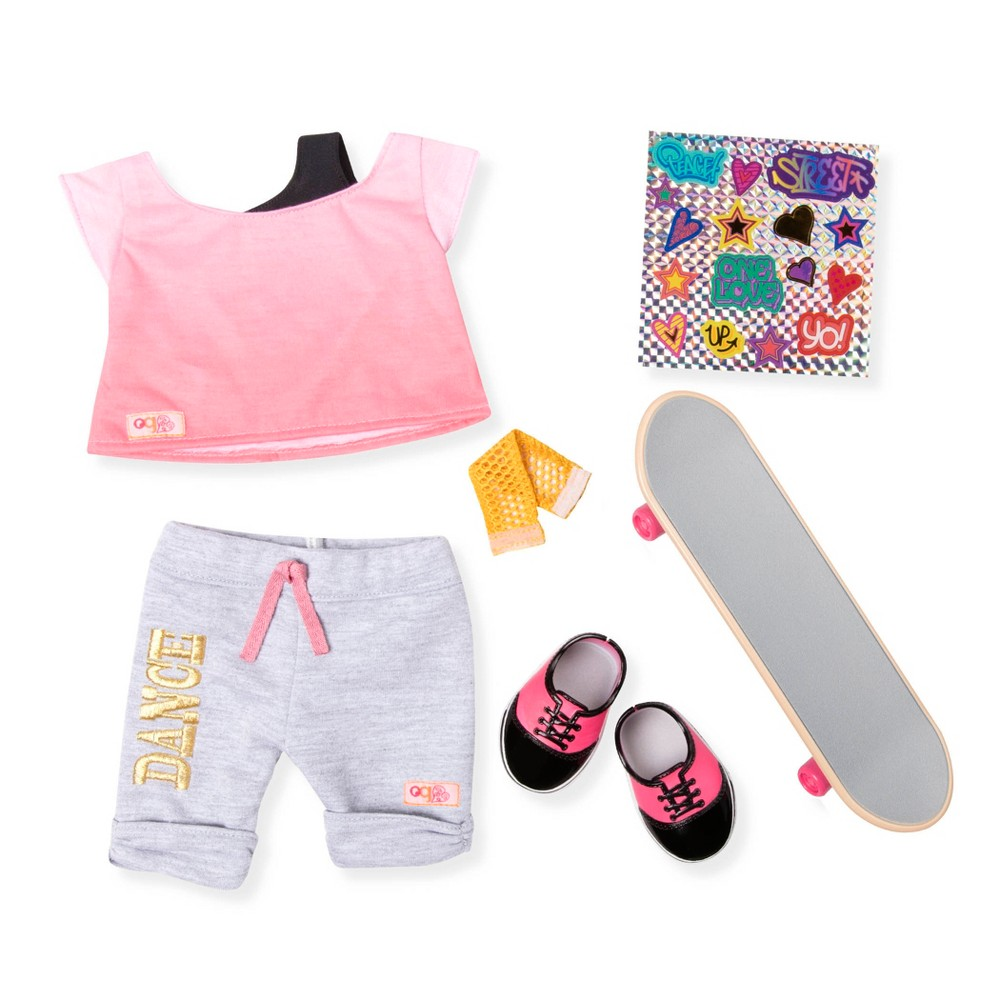 Our Generation Urban Skateboard Outfit For 18 Dolls Og Fly