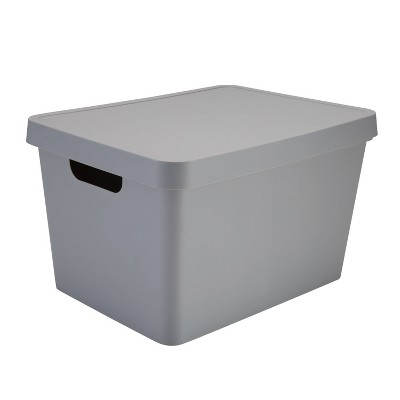 Simplify Large Storage Box with Lid Gray
