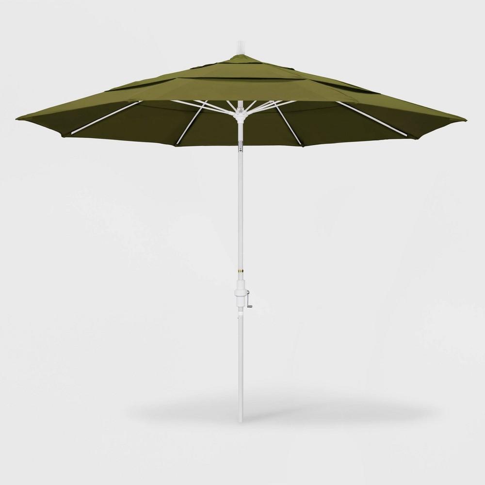 11' Sun Master Patio Umbrella Collar Tilt Crank Lift - Pacifica Palm - California Umbrella