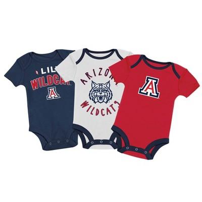 NCAA Arizona Wildcats Baby Boys' 3pk Bodysuit Set