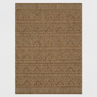 7' x 10' Marked Stripe Outdoor Rug Tan - Opalhouse™