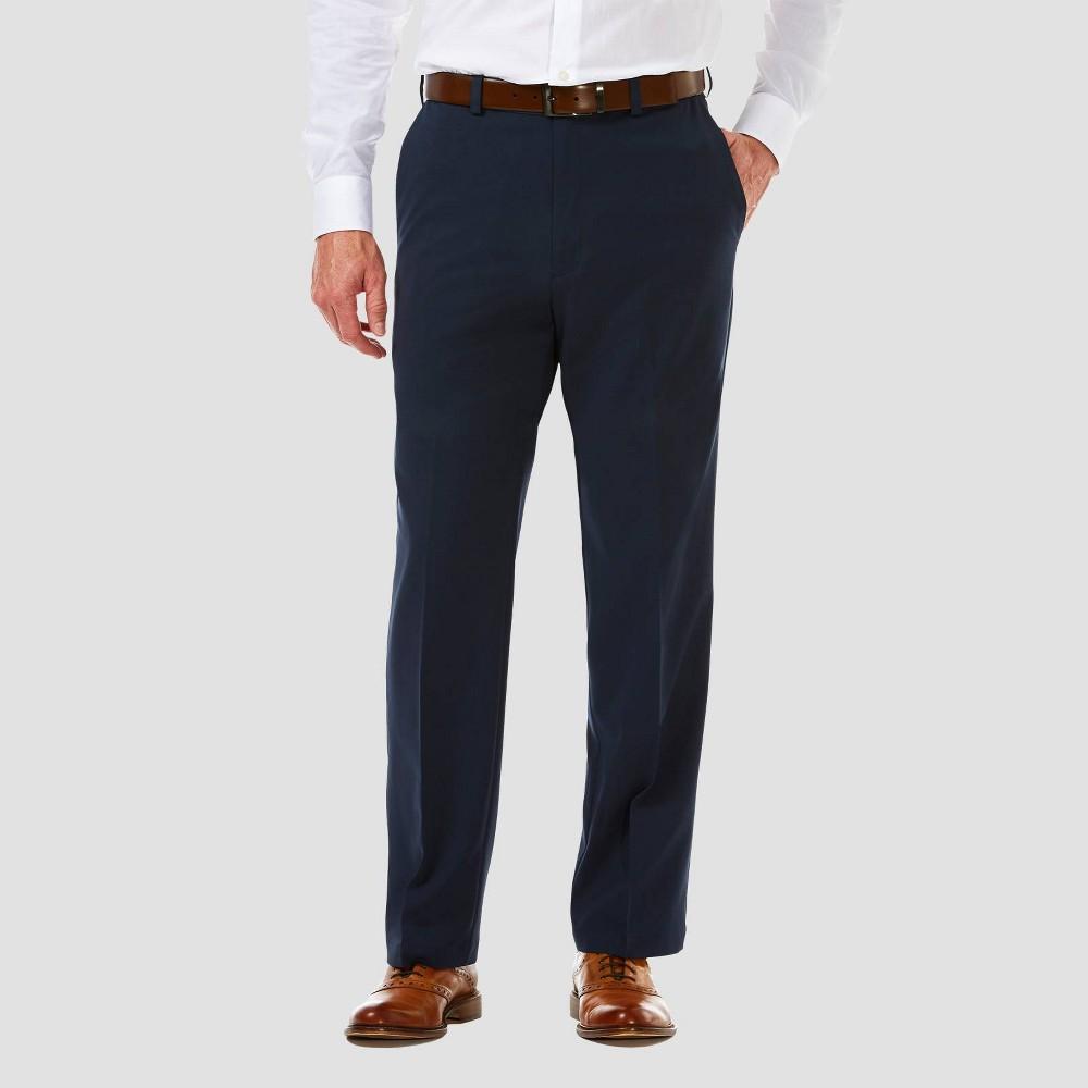 Best Haggar Men's Cool 18 PRO Classic Fit Flat Front Casual Pants -