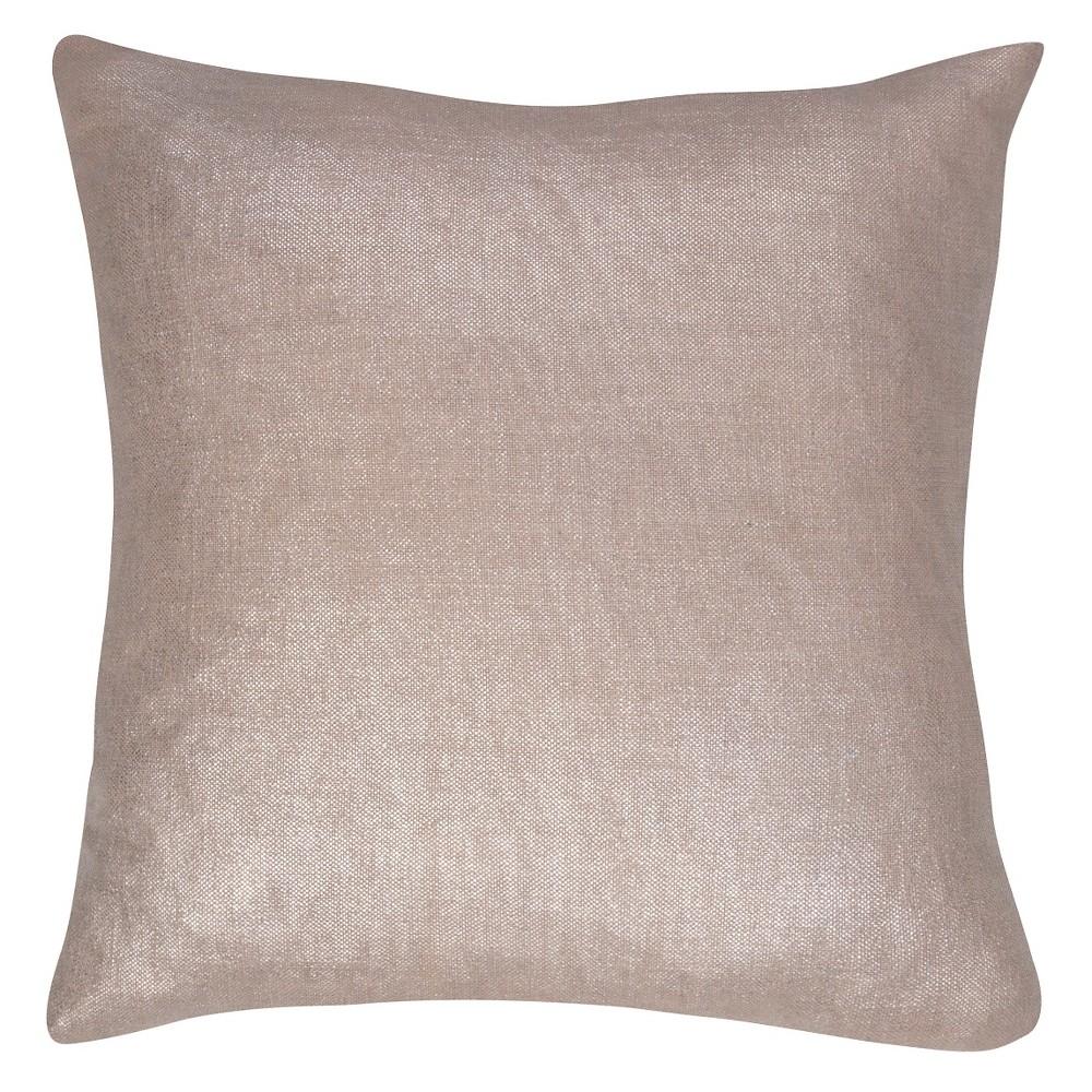 "Image of ""Gray Glitter Throw Pillow (18""""x18"""") - Jaipur"""