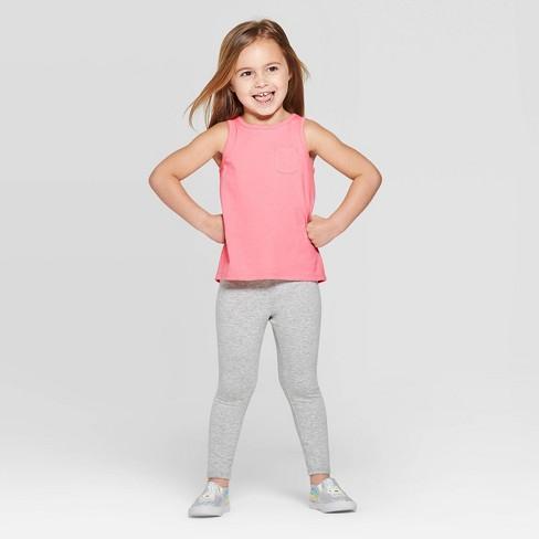 Toddler Girls' Basic Tank Top and Bottom Set - Cat & Jack™ Pink/Gray - image 1 of 3