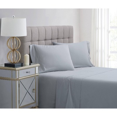 Standard 400 Thread Count Solid Percale Pillowcase Set Gray - Charisma