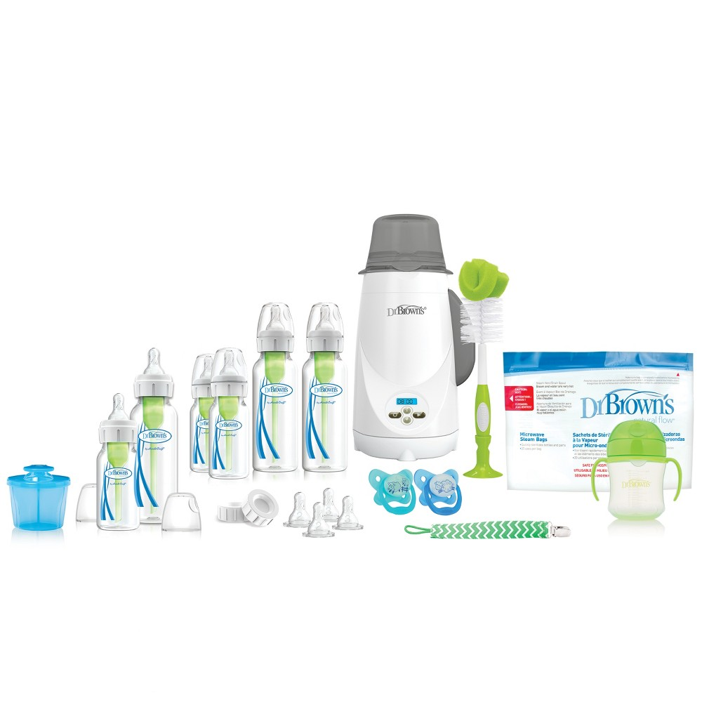 Image of Dr. Brown's Options+ All in One Baby Bottle and Bottle Warmer Gift Set
