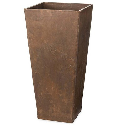 Plow & Hearth - Large Sussex Frost-Proof Self-Watering Resin Planter - Use Indoors or Outdoors