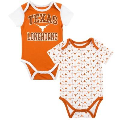 Texas Longhorns Baby Boys' 2pk Bodysuit - Orange/White - 6 M