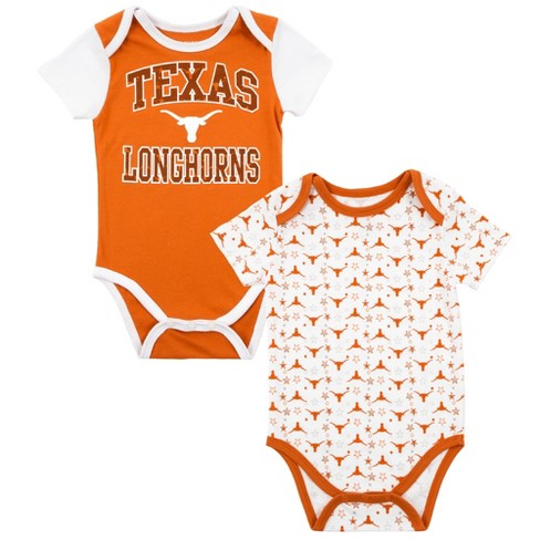 watch 2b94c ffc7c Texas Longhorns Baby Boys' 2pk Bodysuit - Orange/White - 9 M