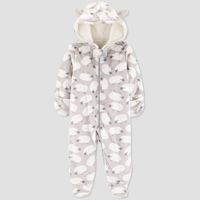 Babys' Pram Sheep Overcoat Jacket - Just One You® made by carter's Gray 9M