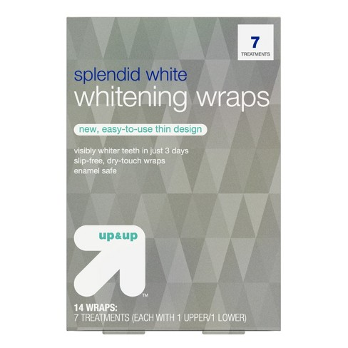 Splendid White Teeth Whitening Wraps 7-Day Treatment - Up&Up™ - image 1 of 6