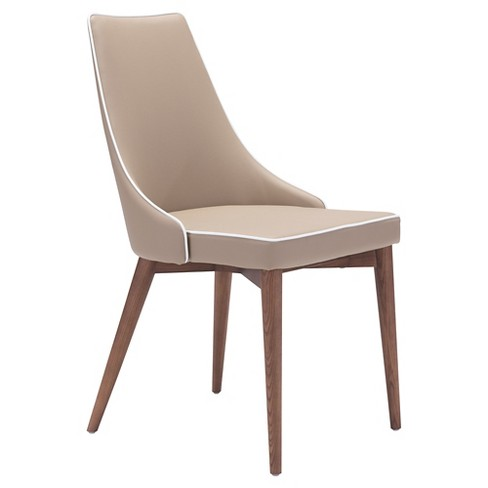 Wing Back Upholstered and Wood Dining Chair - ZM Home - image 1 of 5