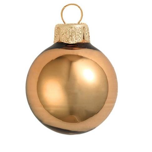 "Northlight 28ct Shiny Glass Ball Christmas Ornament Set 2"" - Burnt Orange - image 1 of 1"