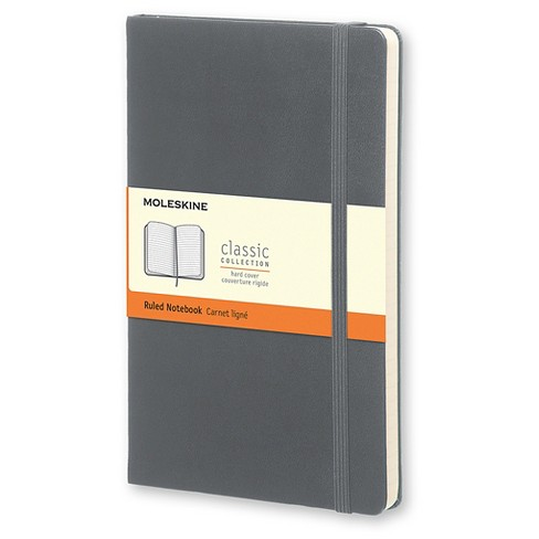 "Moleskine Composition Notebook, Hard Cover, College Ruled, 240 sheets, 5"" x 8"" - Gray - image 1 of 4"