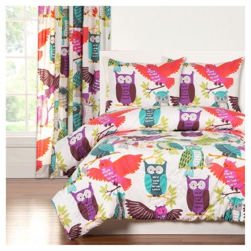 Crayola Owl Always Love You 3 Piece Full Queen Comforter