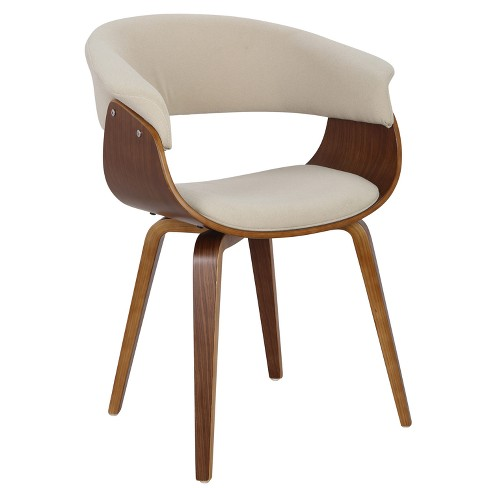 Vintage Mode Mid-Century Modern Dining Accent Chair - Lumisource - image 1 of 4