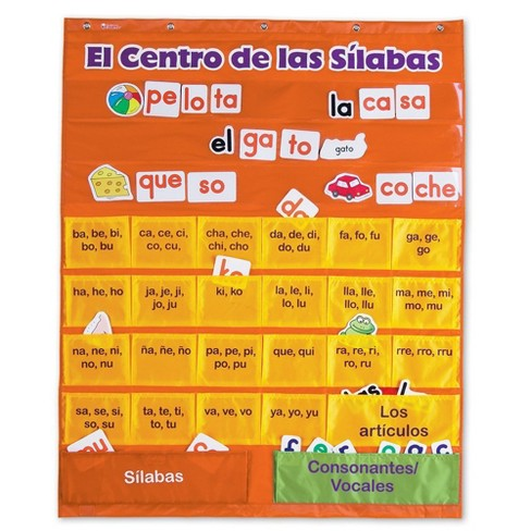 Learning Resources El Centro de las Silabas (Spanish Syllables) Pocket Chart, 225 Cards, Ages 6+ - image 1 of 3