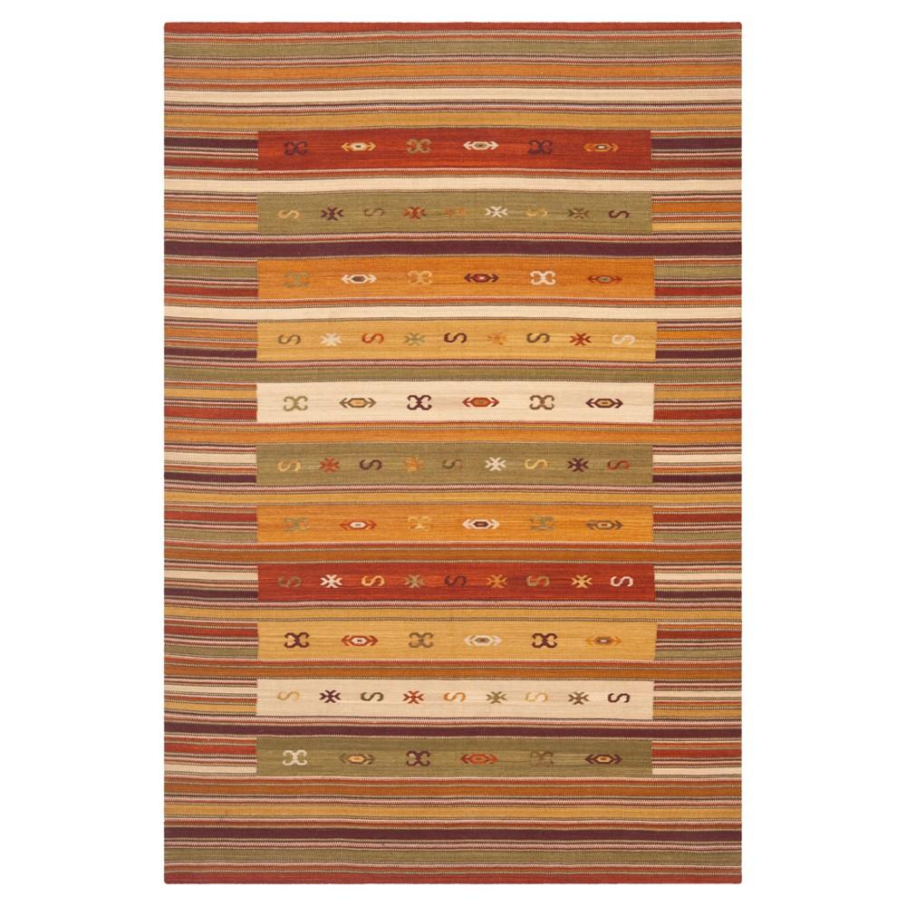 Kilim Rug - Burgundy- (8'x10') - Safavieh, Red