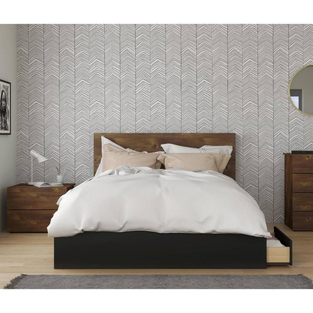 Image of 3pc Queen Bogota Bedroom Set Truffle/Black - Nexera