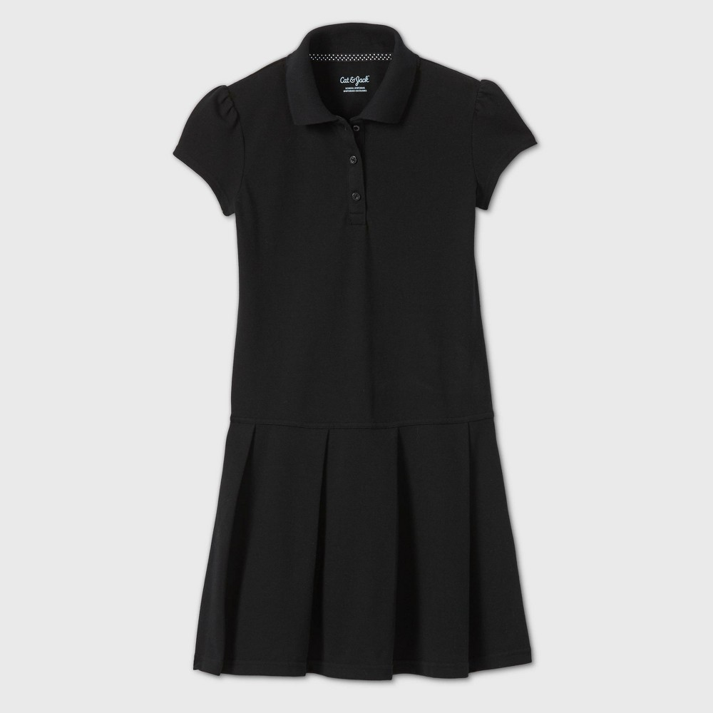 Girls Short Sleeve Pleated Uniform Tennis Dress - Cat & Jack Black XS Reviews