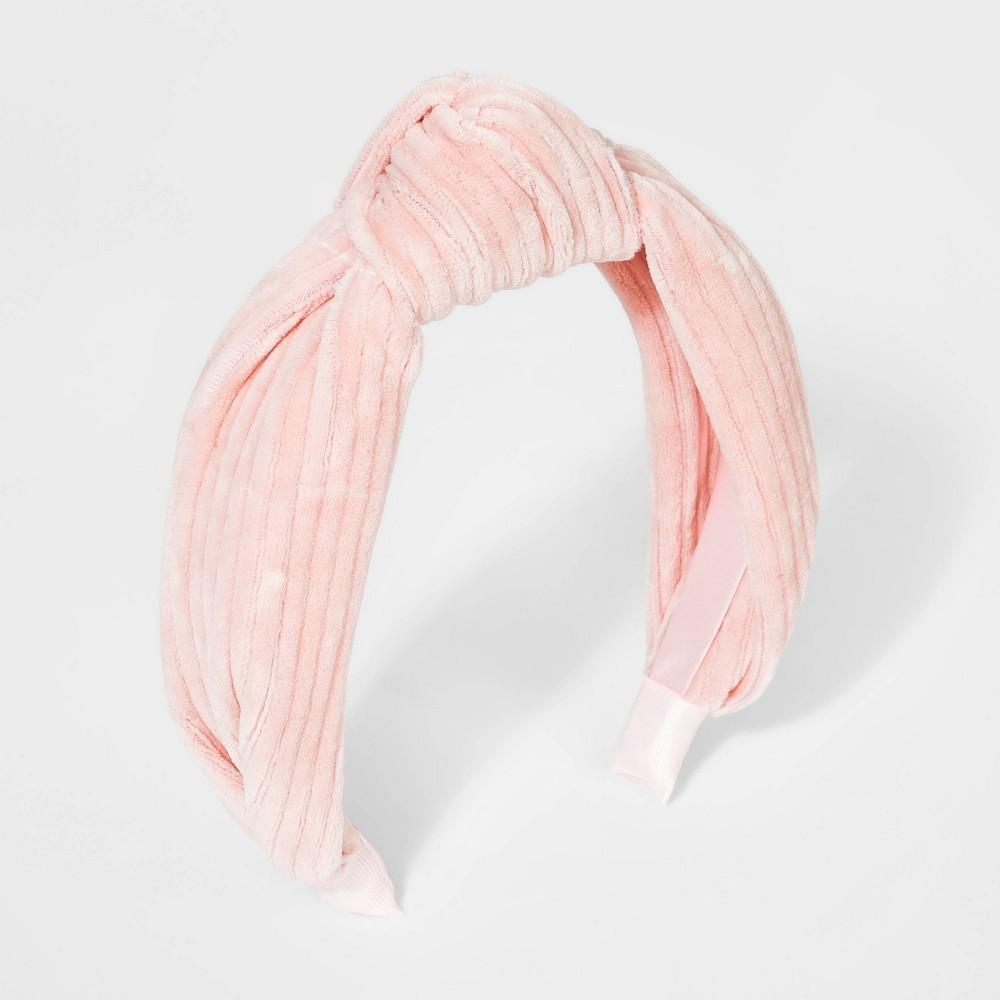 Girls 39 Ribbed Velvet Knot Headband Cat 38 Jack 8482