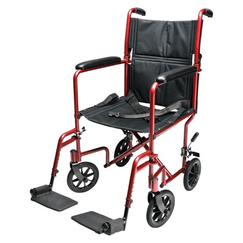 Everest & Jennings Aluminum Transport Chair - Blue and Red - image 1 of 1