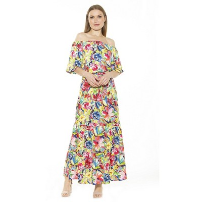 Alexia Admor Ots Max Dress With Bubble Slv