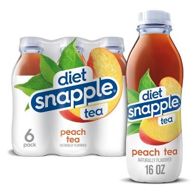 Diet Snapple Peach Tea - 6pk/16 fl oz Bottles