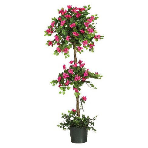 Nearly Natural 5' Mini Bougainvillea Topiary - image 1 of 3