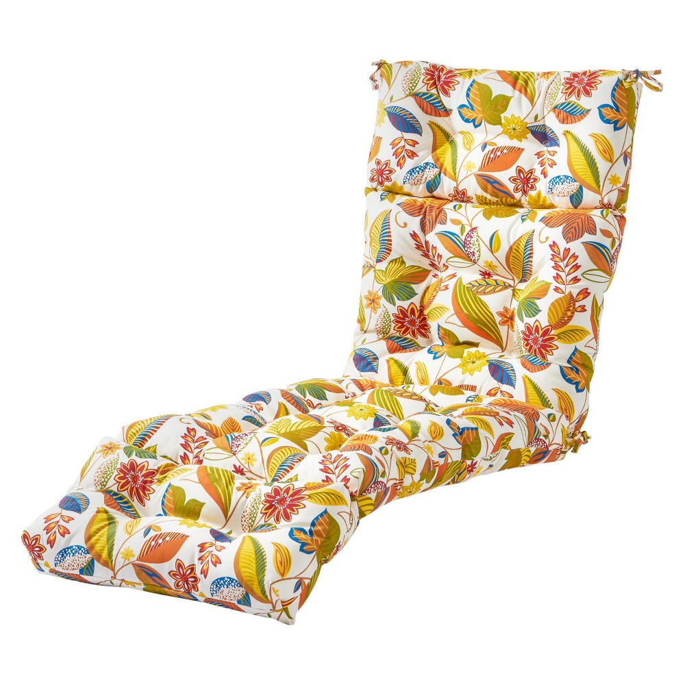 Image of Esprit Floral Outdoor Chaise Lounge Cushion - Greendale Home Fashions, Multi-Colored