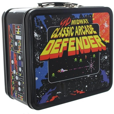 Crowded Coop, LLC Midway Classic Arcade Tin Lunch Box, Defender
