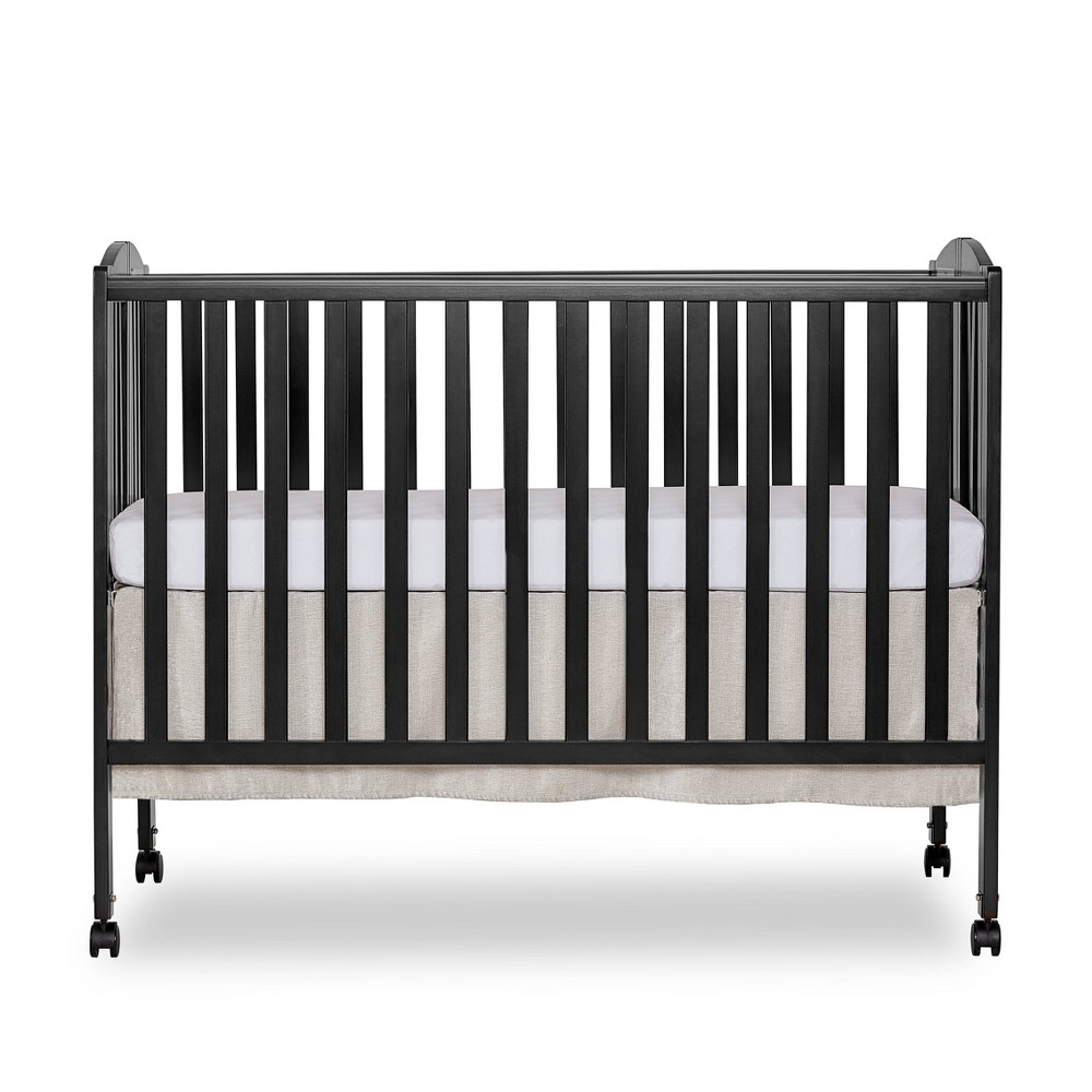 Image of Dream On Me Folding Full Size Crib - Steel Gray, Silver Gray