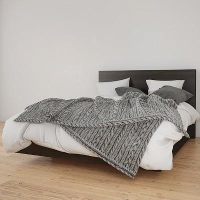 T Platform Bed and Headboard - Nexera