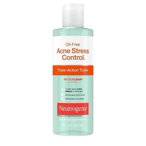 Neutrogena Oil Free Acne Stress Control Triple Action Toner 8 Fl
