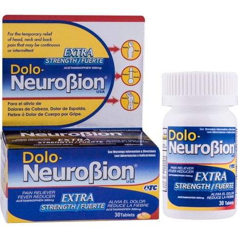 Dolo-NeuroBion Extra Strength Pain Reliever Tablets - Acetaminophen - 30ct - image 1 of 3