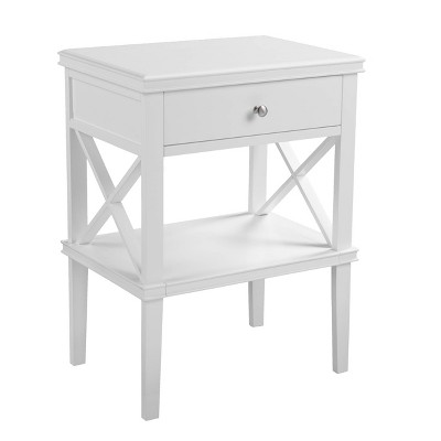 Wilren Tall Accent Table White - Aiden Lane