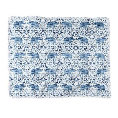 Jacqueline Maldonado Elephant Woven Throw Blanket Blue - Deny Designs