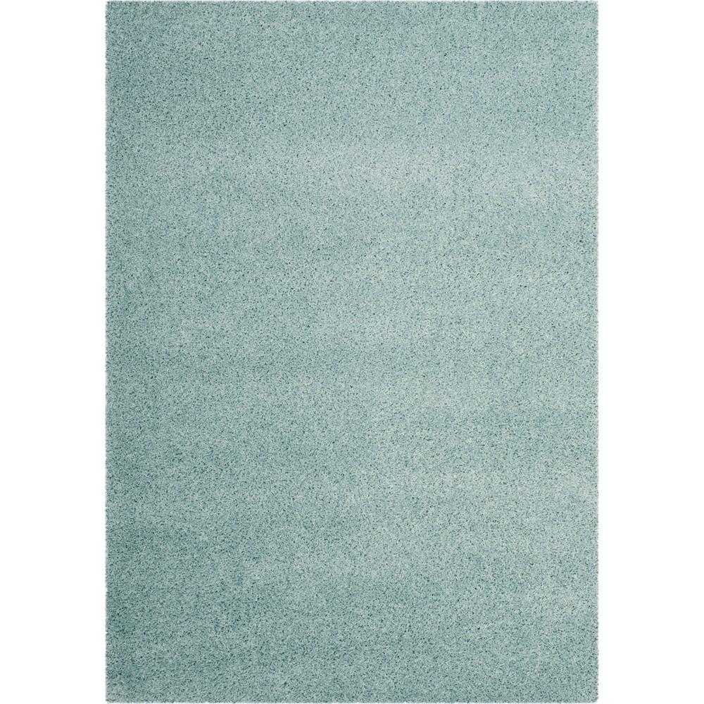 8'6X12' Solid Loomed Area Rug Light Blue/Light Gray - Safavieh