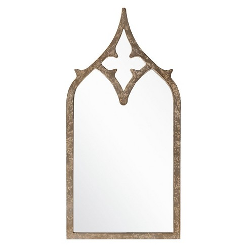 Rectangle Halley Decorative Wall Mirror Weathered Pewter - Surya - image 1 of 1