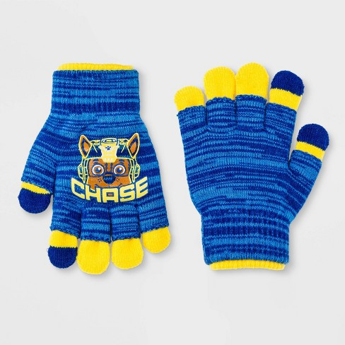Boys' Chase Paw Patrol Gloves - Blue One Size - image 1 of 1