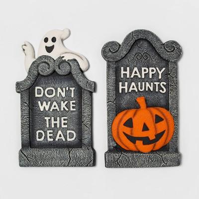 "21"" Foam Tombstone Pumpkin/Ghost Halloween Decorative Prop - Hyde & EEK! Boutique™"