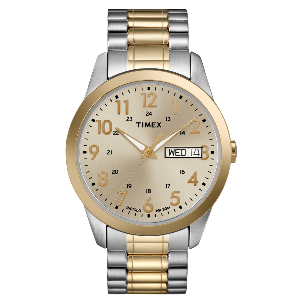 Men 39 S Timex Expansion Band Watch Two Tonet2m935jt
