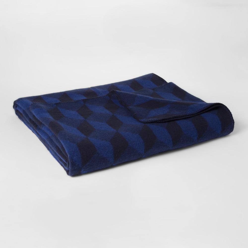 King Cotton Modern Printed Bed Blanket Blue - Project 62 + Nate Berkus