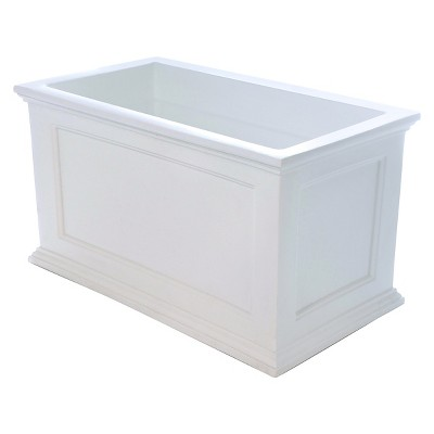 20  X 36  Fairfield Patio Rectangular Planter - White - Mayne