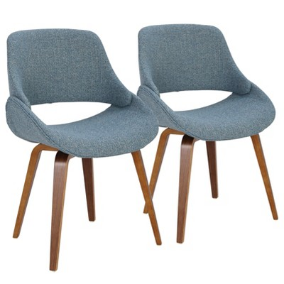 Set of 2 Fabrico Mid-Century Modern Dining/Accent Chair - Lumisource