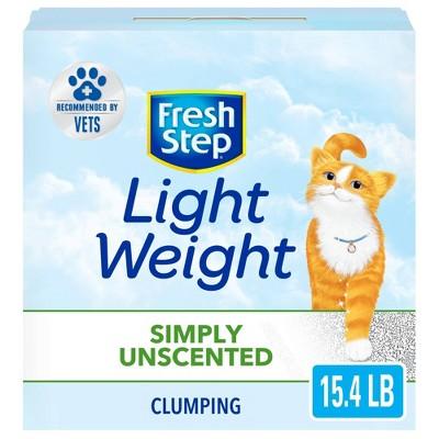 Fresh Step - Simply Unscented Lightweight Litter - Clumping Cat Litter - 15.4lbs