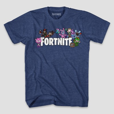80cd7dc0962d Men s Fortnite Short Sleeve Graphic T-Shirt - Navy Heather