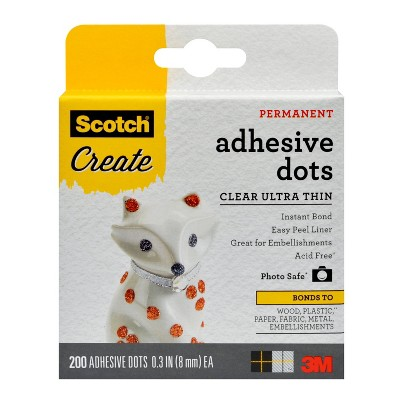 Scotch Create 200ct Adhesive Dots Clear Ultra Thin