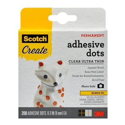Scotch Create 200ct Adhesive Dots Clear Ultra Thin