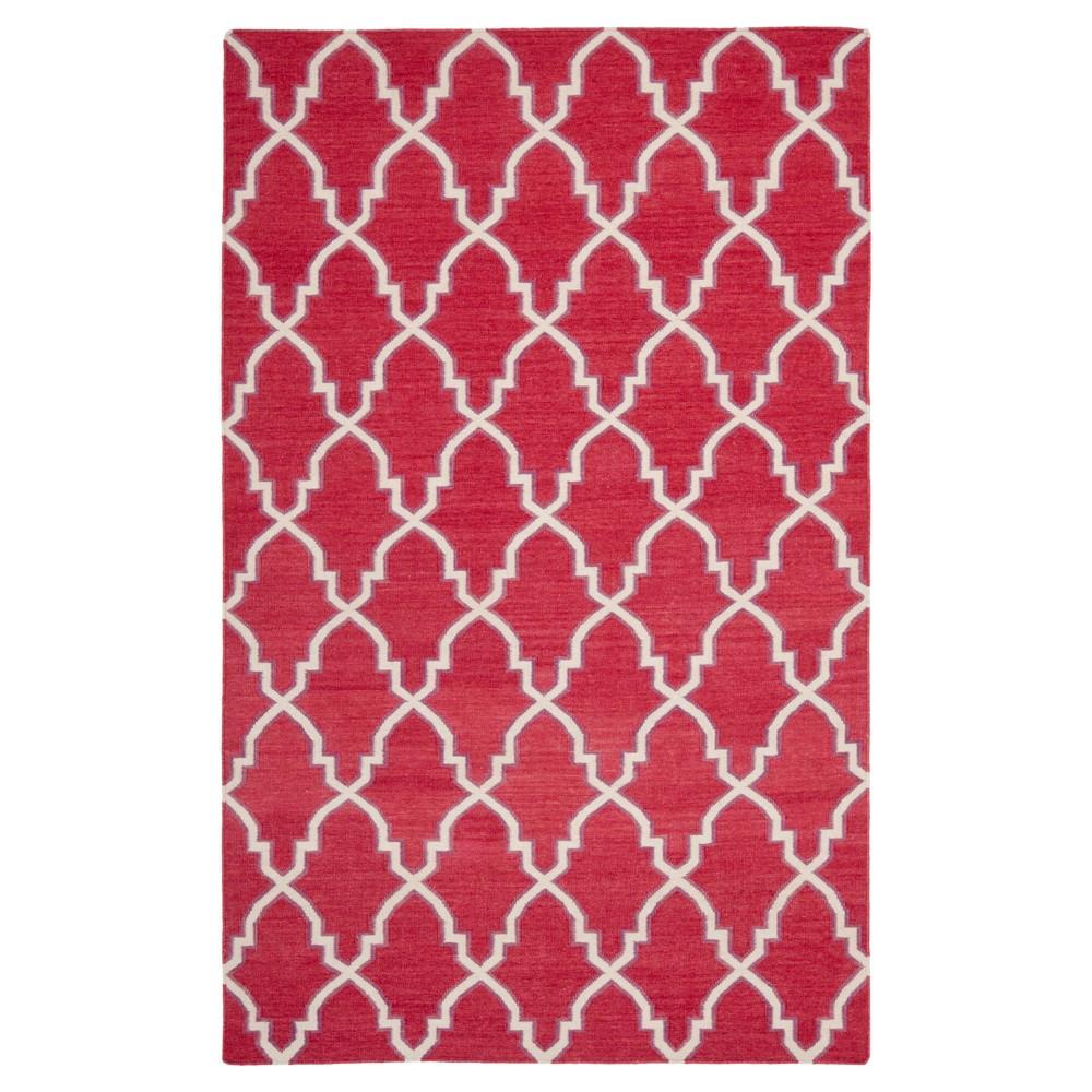 Dakhla Dhurry Rug - Red/Ivory - (4'x6') - Safavieh